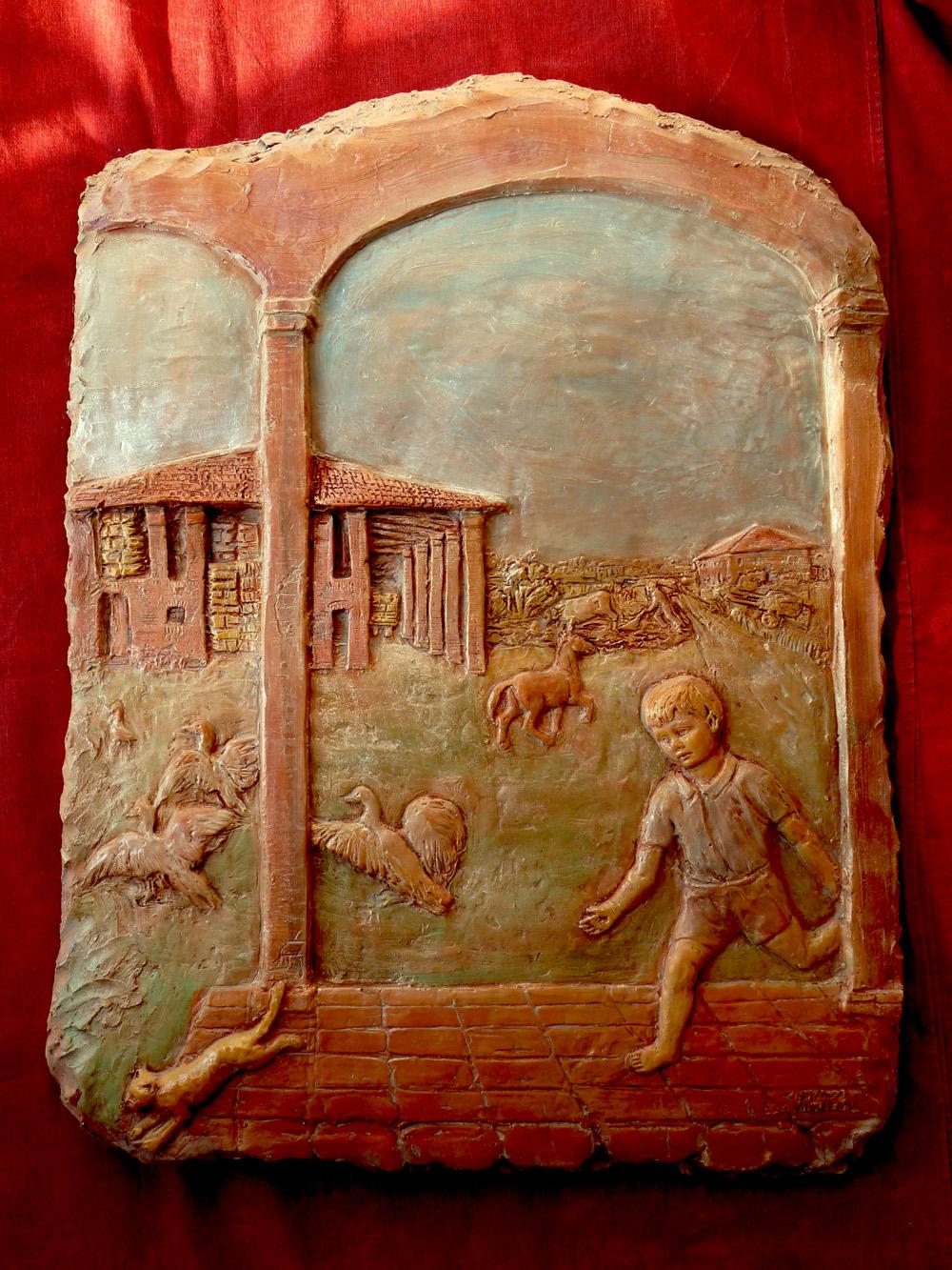 Conosciuto arte terracotta sculture in argilla DG28