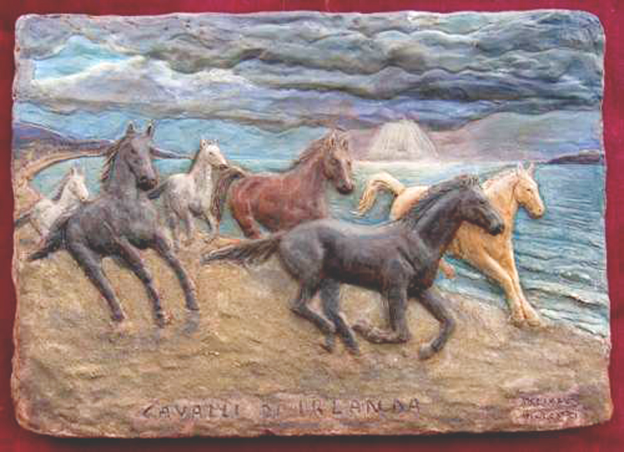 cavalli irlanda mare immagini sculture