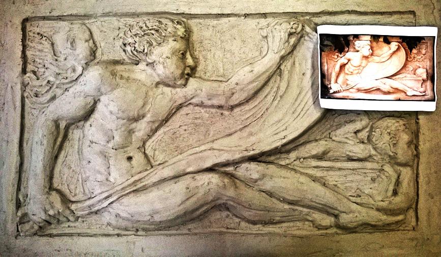 copia di antico bassorilievo greco