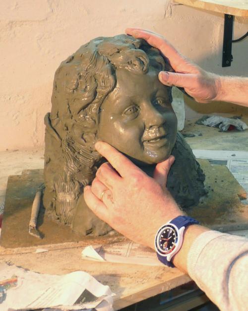 Top ritratti in terracotta scultura TD71