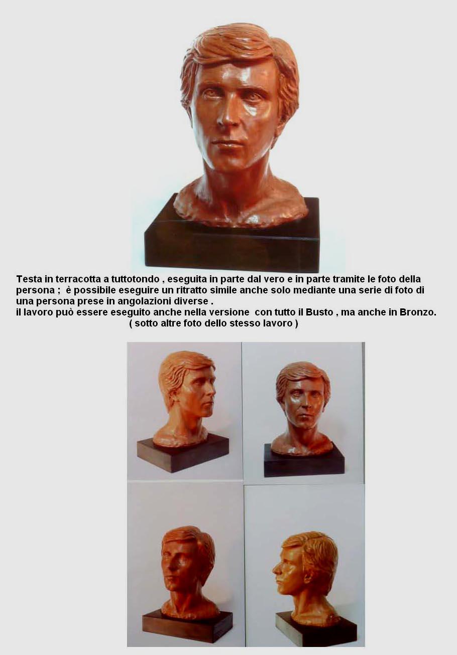 Favoloso ritratti in terracotta scultura GF96