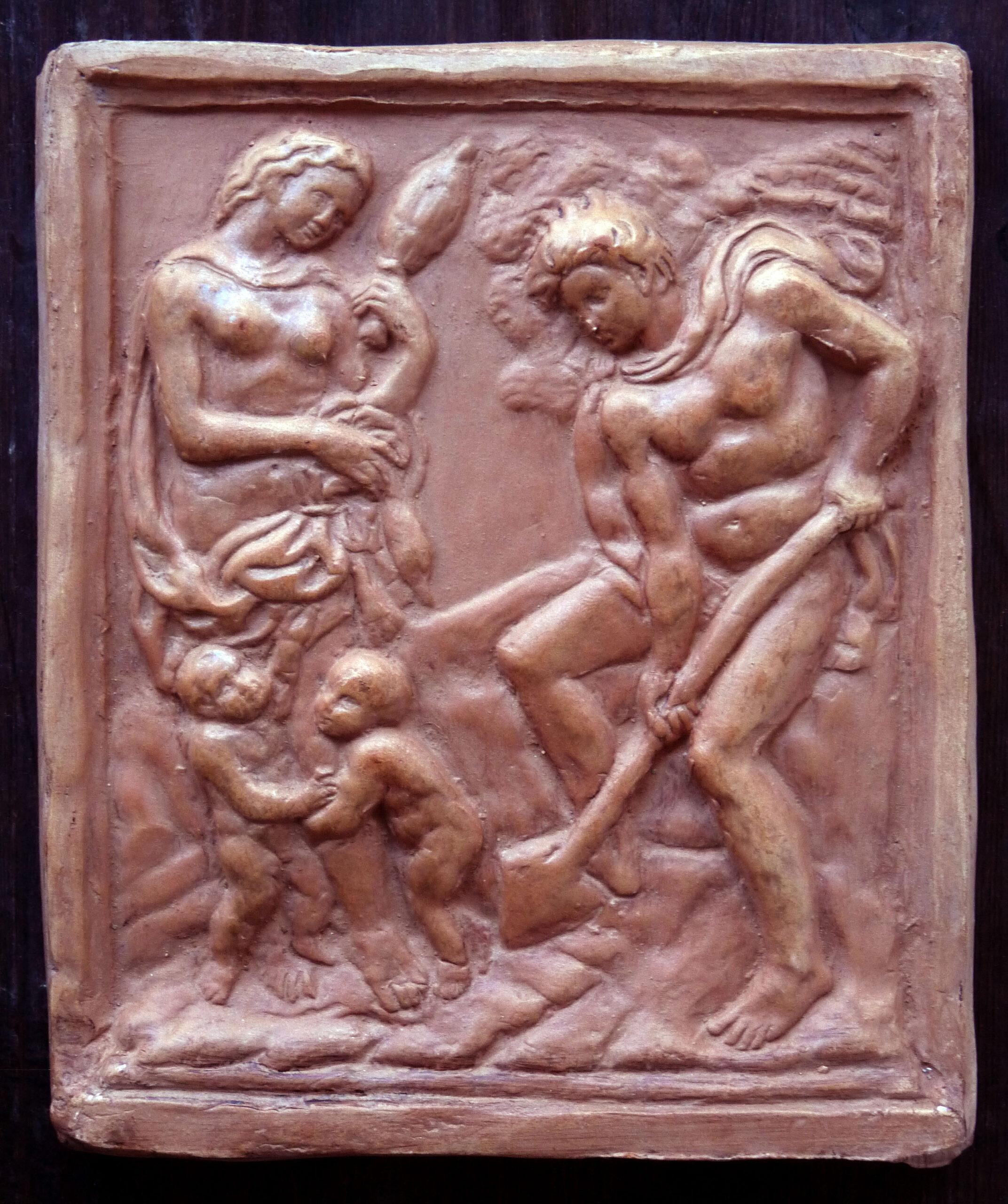 bassorilievo adamo eva Jacopo della Quercia